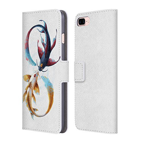 Head Case Designs Ufficiale Jonas JoJoesArt Jödicke Koi Legame Eterno Animali Selvatici Cover in Pelle a Portafoglio Compatibile con Apple iPhone 7 Plus/iPhone 8 Plus