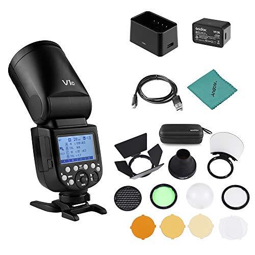 Godox V1C Flash de cámara Speedlite Speedlight Cabeza Redonda inalámbrica 2.4G Fresnel...