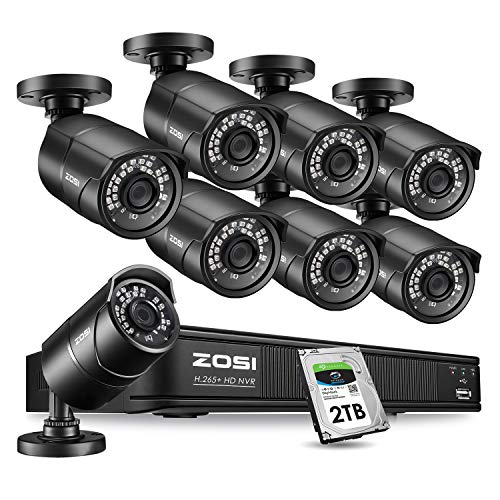 Review Of ZOSI 1080p PoE Home Security Camera System Outdoor Indoor,8CH 5MP H.265+ PoE NVR Recorder ...