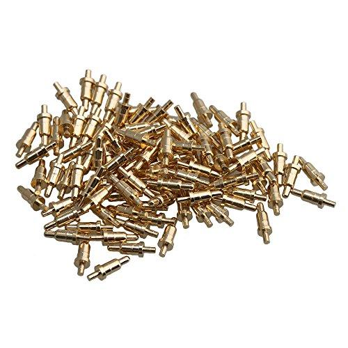 RDEXP Pogo-Pin, Durchmesser 0,8 mm, Länge 6 mm, Federdruckprüfer, 100 Stück