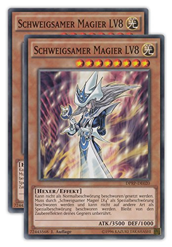Rivals of the Pharaoh Yu-Gi-Oh Einzelkarten und Playsets Auswahl - deutsche Ausgabe (DPRP-DE020 (2X) Schweigsamer Magier LV8)