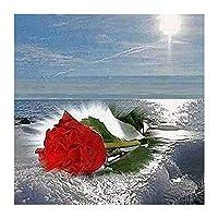1000ピース -大人のための海とバラのジグソーパズル絵パズルティーンキッズ家族と友達-教育学習ゲーム-おもちゃ-ギフト75.5×50.5cm