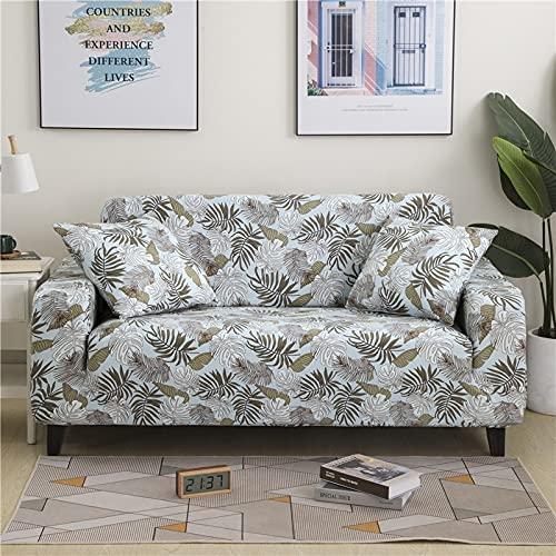 MKQB Funda de sofá elástica elástica con Flores, Sala de Estar en Forma de L, combinación de Esquina, Funda Protectora para Muebles NO.15 1seat-S- (90-140cm