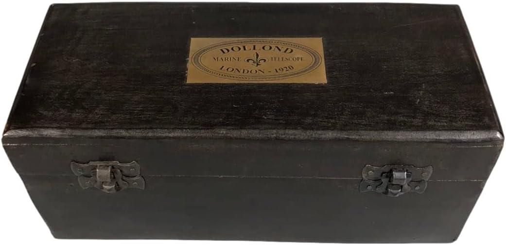 LAOJUNLU Overseas Return Wooden Classic Box Copper Bargain sale Cowhide-Coated Telesc
