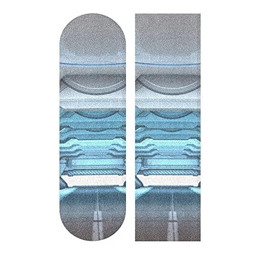 33.1x9.1 pulgadas Deporte al aire libre Longboard Sticker Magical Amazing Space Corridor Print Impermeable Linda cinta de agarre para patineta para tablero de baile Cubierta de tablero de balancín do