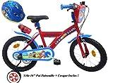 Eden-Bikes Bicicleta 16' Garcon PATROLLA 2 Frenos PB/BIDON AR + Casco de Bicicleta Infantil, Multicolor, 16 Pulgadas