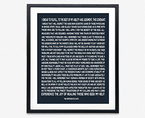 Hippocratic Oath Framed Gift
