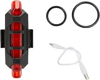 healthwen Bicicleta Luz de señal LED Luz de Advertencia Linterna Luz Trasera Trasera Carga USB