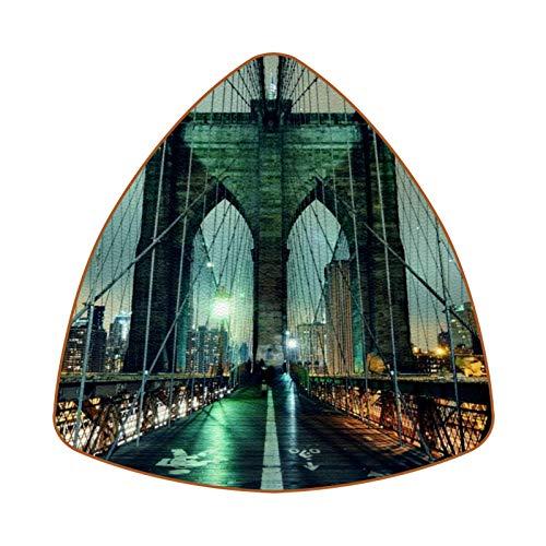 Brooklyn Bridge Night Untersetzer für Getränke, Tasse, Flasche, Tasse, Kaffee, Bier, 6 Stück
