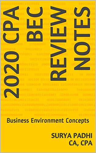 2020 CPA BEC REVIEW NOTES: Business Environment Concepts (English Edition)