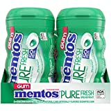 Mentos Pure Fresh Sugar-Free Chewing Gum with Xylitol, Spearmint, 50 Piece Bottle (Bulk Pack of 4)
