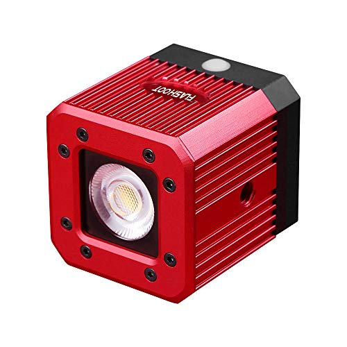 Waterproof Aluminum Alloy Cube LED Video Light 5600K Diving Fill Light Strobe Flash with 1/4 Inch Screw Hole for DSLR Camera Action Camera Smartphone Drone Camcorder -8W 200LUX/1M