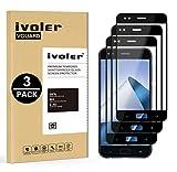 iVoler [3 Pack] Pellicola Vetro Temperato per ASUS Zenfone 4 ZE554KL 5.5 Pollici, [Copertura Completa] Pellicola Protettiva Protezione per Schermo per ASUS Zenfone 4 ZE554KL 5.5''