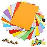 Lot de 100 feuilles de papier coloré A4 180 g/m² 20 couleurs assorties papier...