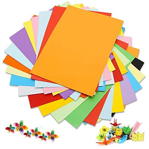 Cartulina de colores A4, 100 unidades, 180 g, 20 colores