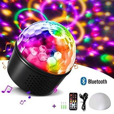 Disco Lights Bluetooth Speaker,Homeasy Disco Ball Light RGB Sound Activated with Remote Control DJ Party Light for Kids, Festival Celebration Birthday Xmas Wedding Bar Club