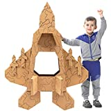 iBonny DIY Toys Indoor Playhouse Cardboard Playhouse Fighter Plane Toy Fighter Jet Cardboard Houses for Toddlers and Kids