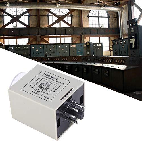Tijdrelais vertraging, AH3-2 tijdrelais Mini Delay Controller tijdschakelaar AC 220V voor automatische controle (60S)