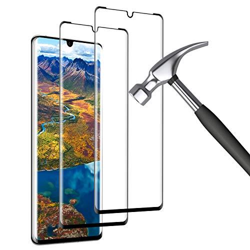 Mriaiz Panzerglas Kompatibel mit Huawei P30 Pro, [2 Stück] P30 Pro Schutzfolie, Blasenfrei, HD Panzerglasfolie, 9H-Festigkeit, Anti-Bläschen, Bildschirmschutzfolie für Huawei P30 Pro