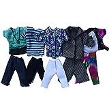 Xiton Ken Barbie Kleidung, 5pcs Sommer Sport Fashion T-Shirts und Shorts für Freund Barbie-Puppe...
