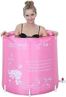 WGNHM Folding Bathtub, Waterproof Bath Barrel for Adults and Children, Bath Barrel for Four Seasons