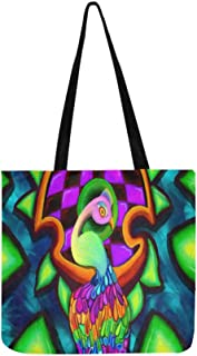 As The Male Peacock Waits For Love By Techbehr Dg Canvas Tote Handbag Shoulder Bag Crossbody Bags Purses For Men And Women Shopping Tote