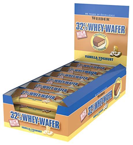 Weider 32% Protein Bar, Vanilla-Yogurt, Low Fat, Low Carbs, 24 bars