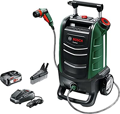 Bosch Fontus 06008B6070 Cordless Outdoor Pressure Washer Cleaner, with 15 Litre Water Tank (1 Battery, 18 Volt System, Maximum Pressure: 15 Bar) from Bosch