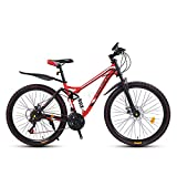 Mountain Bike Bicycle, 26 Inch High Carbon Steel Off-Road Bike, Full Suspension Bikes
