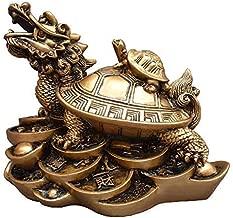 Yingred Feng Shui Dragon Turtles Small Turtle Statue Home Decor.Symbol Fertility Longevity,Best Housewarming Congratulatory Gift,Feng Shui Decor