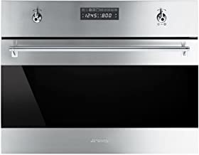 Smeg SU45VCX1 Classic Built-in Steam Combination Oven with 10 Cooking Modes, Stainless Steel