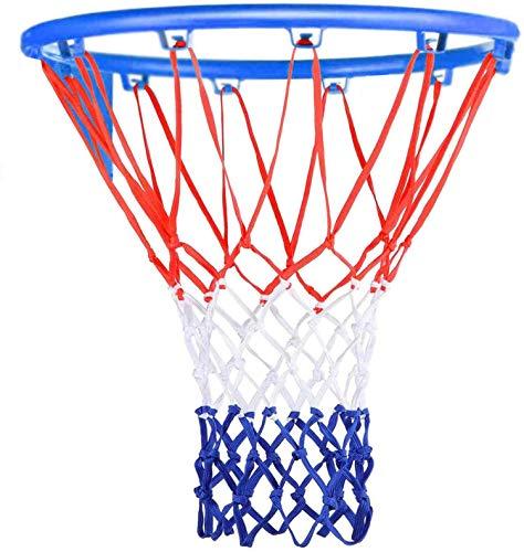 Boyanenes Basketball Netz, Basketball Ersatz Netz, Netz für Basketballkorb, Basketball Korb, 3 Farbig, Netz für Basketballkorb Outdoor 12 Loch Ersatznetz