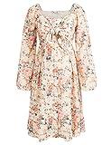 Damen Umstandskleider festlich A-Linie Kleid Langarm Schwangerschafts Kleider MC116-01_00S