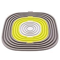 火の色 コースター 多機能 コップ敷き 鍋敷き 断熱パッド 茶パッド おしゃれ グレー