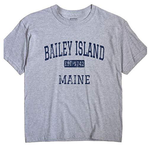 GreatCitees Bailey Island Maine T-Shirt EST Medium Grey