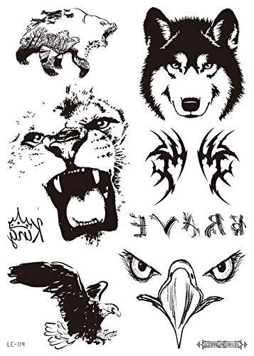 Autocollants pour le visage de mode autocollants de tatouage personnalisé autocollants imperméables fête rétro noir,LC-114