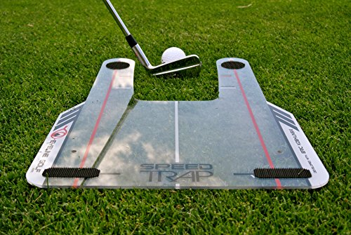 EyeLine Golf Speed Trap 1.0 - Unbreakable Base, Red Speed Rods and Carry Bag; Shape Shots and Eliminate a Slice or Hook - Made in USA (2018 Version) , 12