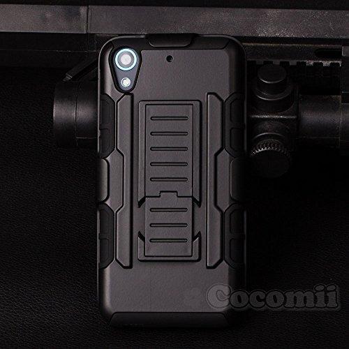 Cocomii Robot Belt Clip Holster HTC Desire 626/626s/626G Hülle, Schlank Dünn Matte Ständer Drehbares Gürtelclip-Holster Fallschutz Case Bumper Cover Schutzhülle for HTC Desire 626/626s/626G (Black)