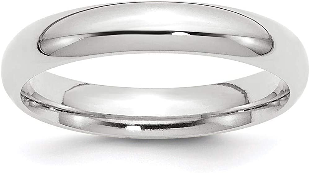 10 White Gold 4mm Standard Comfort Fit Wedding Ring Band Size 11 Classic Cf Style Mm B Width Fashion Jewelry For Women Gifts For Her