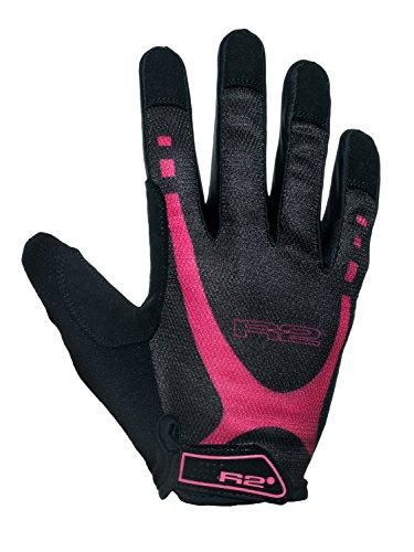 Relax R2 Fahrradhandschuhe Radfahren Handschuhe Pro Gel Voll Finger Touchscreen Kompatibel ATR29 (Pink ATR29D, M)