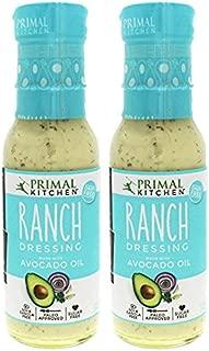 Primal Kitchen – Organic Ranch Dressing, Avocado Oil–Based, Vegan & Paleo Approved - (8 Oz X 2 Pack)