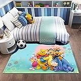 Alfombra Creativo Anime Infantil Winnie The Pooh Alfombra Suave Antideslizante para Decoración del Hogar Impresa En 3D V-1069H 120X180Cm