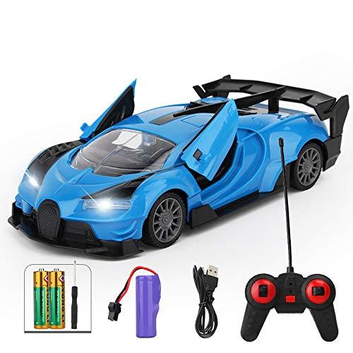 Tastak Fernbedienung Auto Vierradantrieb Rennrad Auto Aufladung Wireless High-Speed Mini Sports Auto Jungen Kinderspielzeug Auto Fernbedienung Sportwagen Fügt manuelle Türöffnungsfunktion hinzu