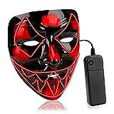 AnseeDirect Halloween Maske Venom Led Maske Horror Maske EL-Draht leuchtet auf Cosplay Masken für...
