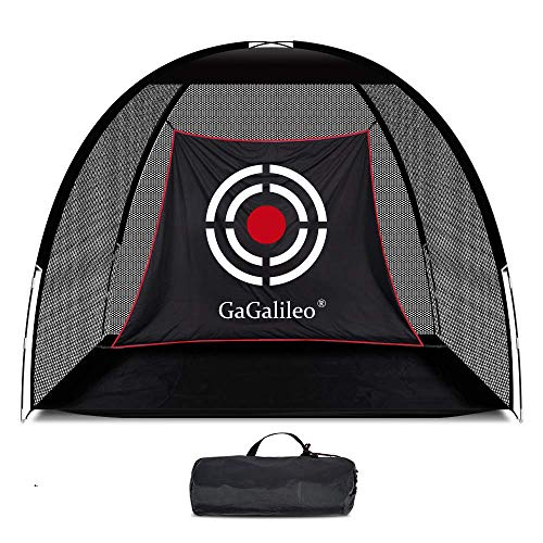 GALILEO Golf Net Golf Hitting Nets Training Aids Practice Nets 6.8' (L) X4.9' (H) X3.2' (W) for Backyard Driving Range Chipping Net with Target Carry Bag for Indoor Outdoor Sports