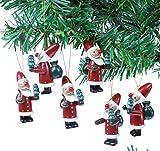 Brubaker 6-teiliges Set Weihnachtsmann Holzanhänger - Baumschmuck für den Weihnachtsbaum -...