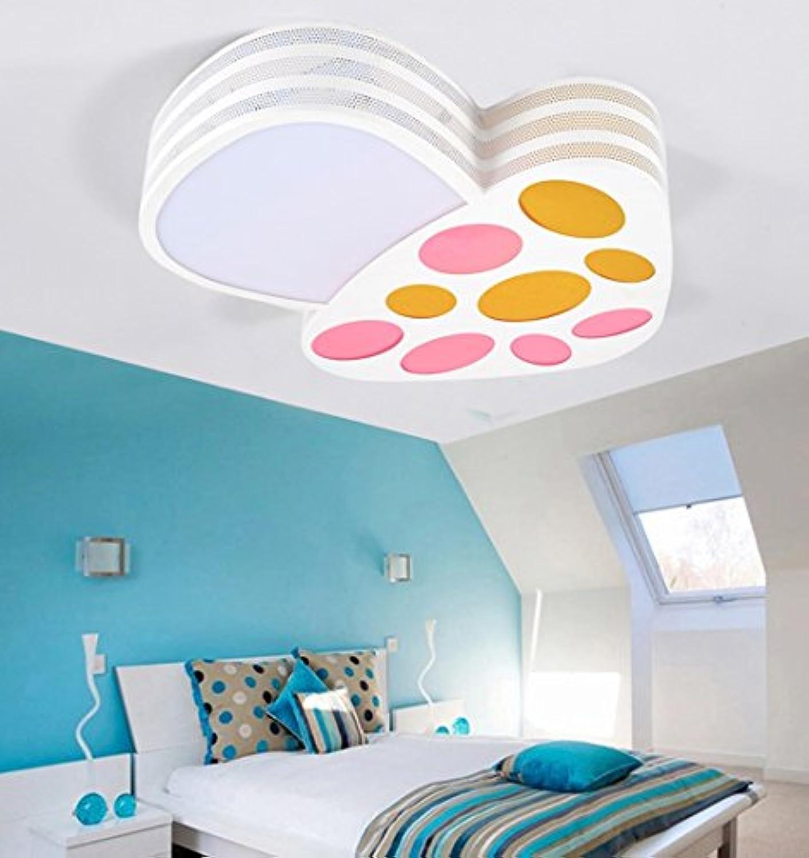 Deckenleuchten, Kinderzimmer Lichter Schlafzimmer Lichter LED Deckenleuchte Einfache moderne Mdchen Junge Creative Zimmer Fernbedienung Lampen 49  44  8cm (Farbe    1)