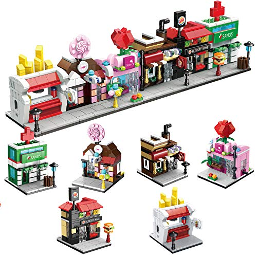 FunLittleToy City Building Blocks with Shops Building Bricks Party Favors for Kids Educational STEM Toys Birthday Gifts for Boys amp Girls