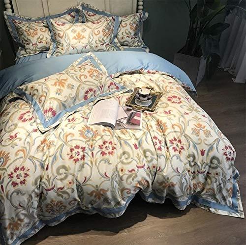 RONGXIE Vintage pastorale beddengoed set volwassen tien, volledige koningin katoen comfortabele double home textiel bed kussensloop dekbedovertrek