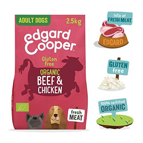 Edgard & Cooper Croquettes Chien Adulte 100% Biologique 7kg Nourriture Naturelle sans Gluten, Viande fraiche élevée en liberté, Alimentation Saine complète équilibrée (Boeuf & Poulet Bio, 2,5 kg)